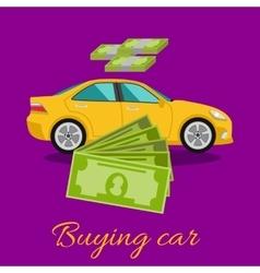Buying car concept vector