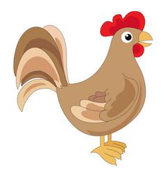 Cute brown cock vector