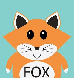 Cute fox cartoon flat icon avatar vector image vector image