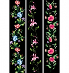 decorative flowers in national style vector image vector image