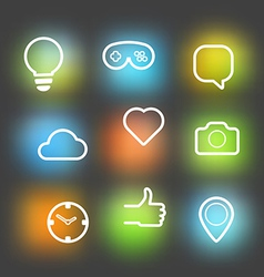 Different icons set Design elements vector image vector image