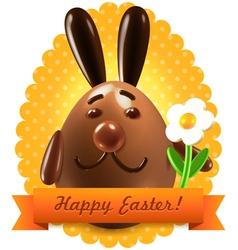 Easter postcard greetings vector