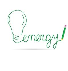 Energy green vector