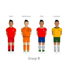 Football teams Group B - Spain Netherlands Chile vector image