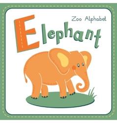 Letter e - elephant vector