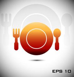 Menu design for restaurant icon vector image