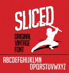 Original vintage font poster vector