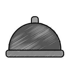 Restaurant platter icon vector