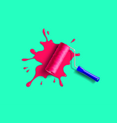 Roller brush splash vector