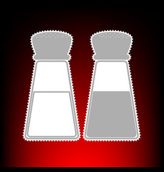 Salt and pepper sign postage stamp or old photo vector