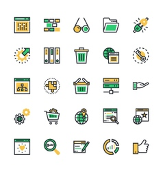 Seo and marketing colored icons 4 vector