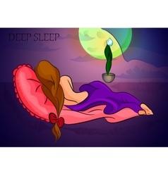 sleeping girl deep sleep vector image