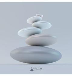 Spa stones 3d vector