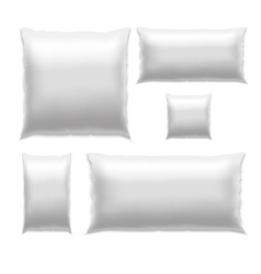 Template white blank pillow set vector