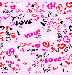 valentines day or wedding seamless pattern with vector image