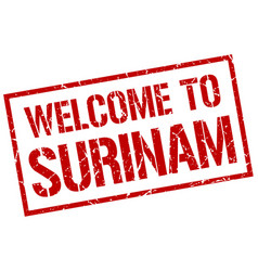 Welcome to surinam stamp vector
