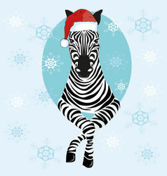 Zebra hat - vector