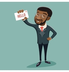 African businessman character presentation vector