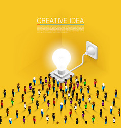 Crowd people committed idea vector