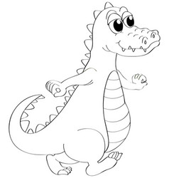 animal outline for crocodile vector image