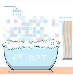 Bathroom interior vector