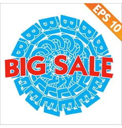 Big sale tag background - - eps10 vector