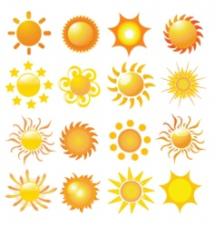 2008732 sun vector image vector image