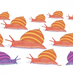 Snails seamless pattern vector
