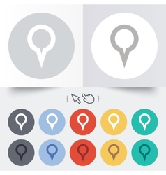 Map pointer sign icon marker symbol vector