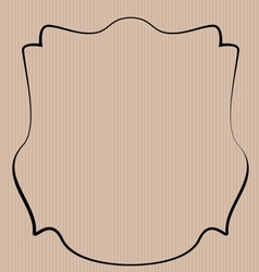 Heraldic shield border shape label hand draw - vector