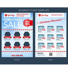 Christmas sale business flyer template eps10 vector
