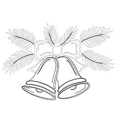 christmas bells contours vector image