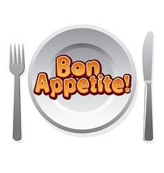 bon appetit icon vector image