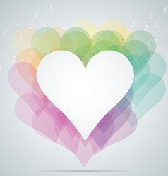 Hearts note vector