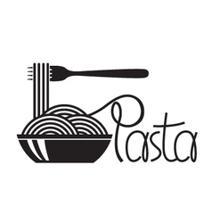 Dish of pasta vector