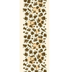 Animal brush stroke vertical seamless pattern vector