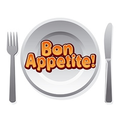bon appetit icon vector image vector image