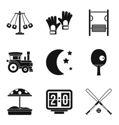 children fun icons set simple style vector image vector image