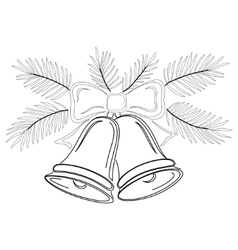 christmas bells contours vector image