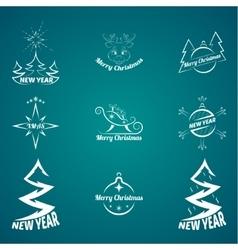Christmas logo vector