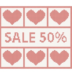Christmas Sale Scandinavian style knitted pattern vector image vector image