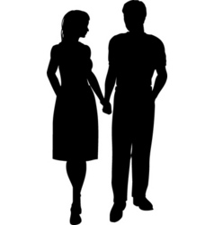 couple walking vector image vector image