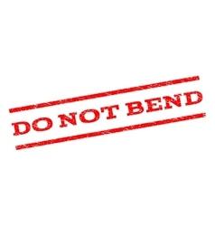 Do not bend watermark stamp vector