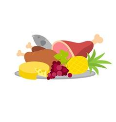 Food platter vector