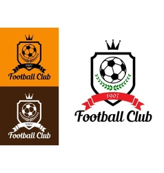 Football or soccer crests vector