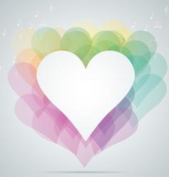 hearts note vector image vector image