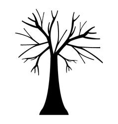 Icon dry tree vector