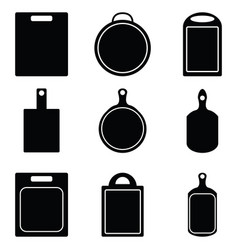 kitchen cutting icon set vector image vector image