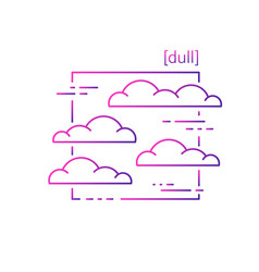 line icons with symbol weather isolated clouds vector image