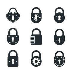 Lock icons signs or symbol padlock icon vector